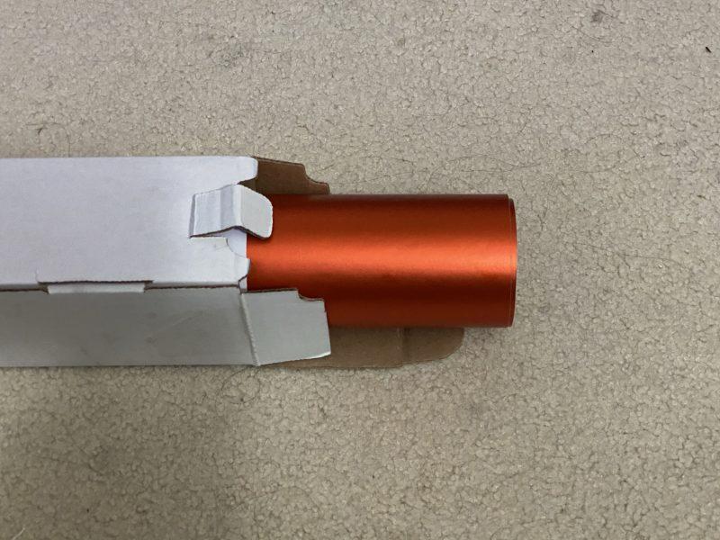 Satin Matte Chrome Metallic Orange
